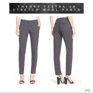 THEORY Testra 2B Stretch Wool Pants 12